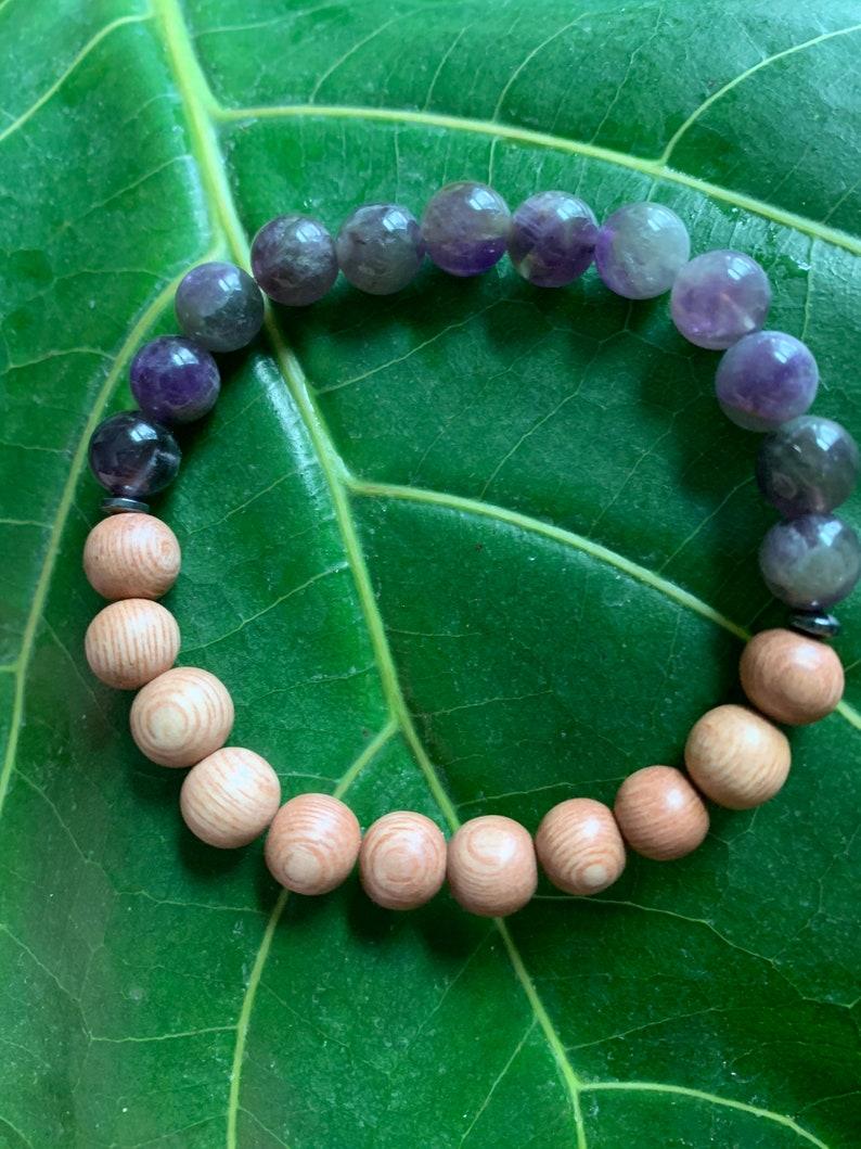 Amethyst /& Rosewood Diffuser Bracelet
