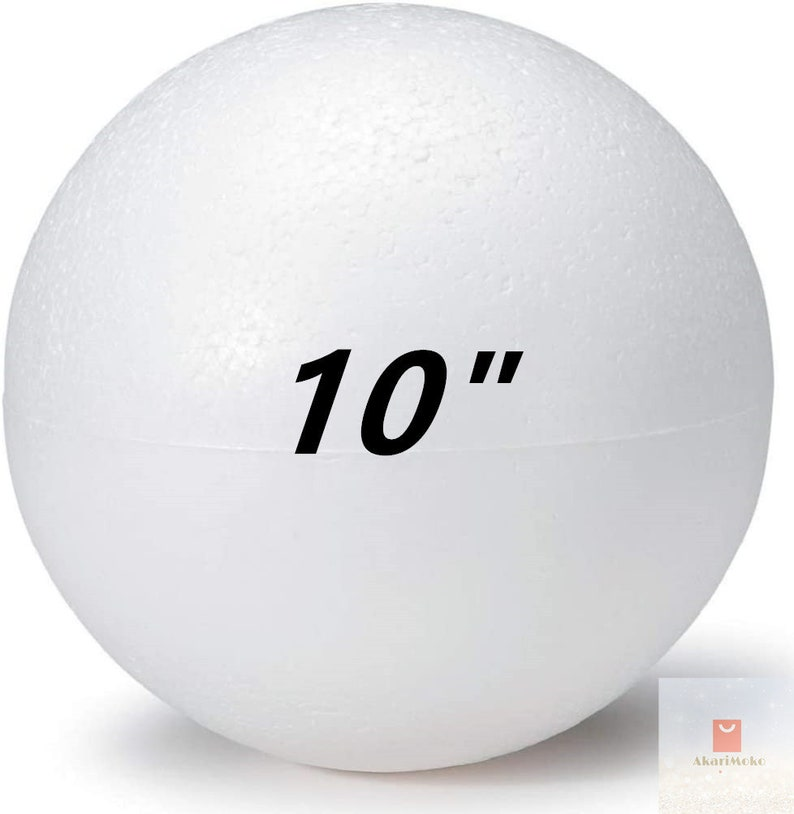 10 Smooth Round Polystyrene Foam Balls Ornaments DIY Wedding Decoration Craft Supplies Science Modeling Projects Perfect for Art
