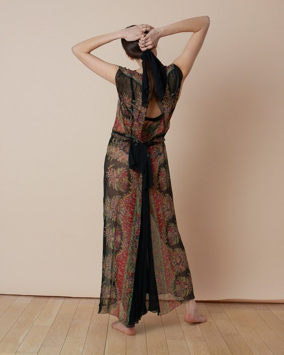 Printed Silk Chiffon Dress - image 4