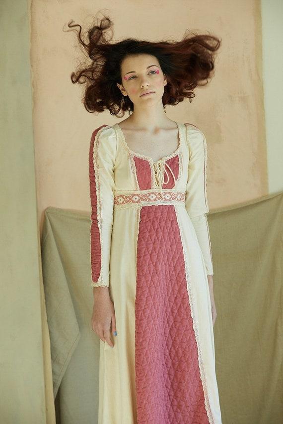 Vintage Gunne Sax Mauve Corduroy Dress - image 2