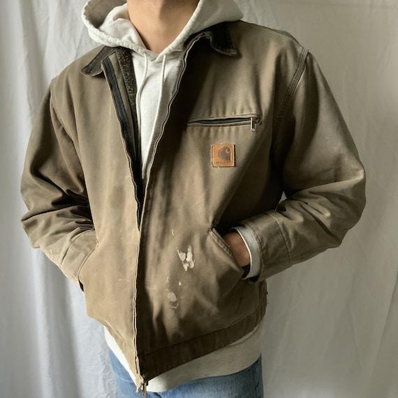 Vintage Carhartt Detroit Jacket Brown - 90s carhar