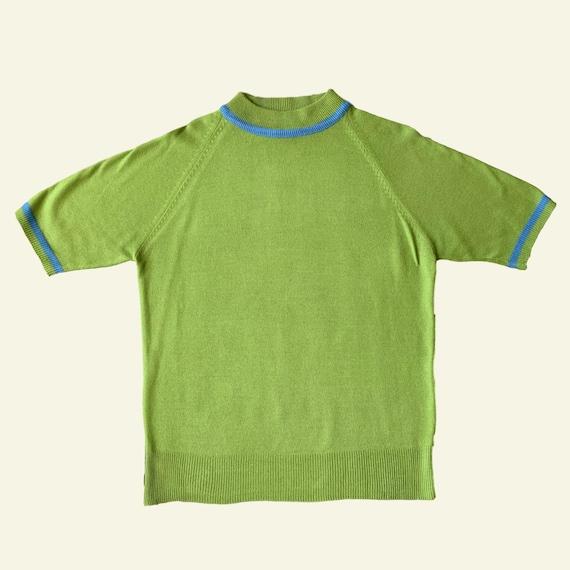 Vintage Short Sleeve Sweater - Short Sleeve Sweate