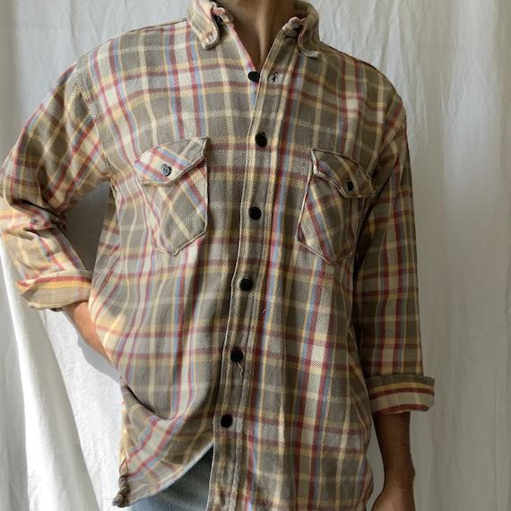 Vintage flannel shirt - sanforized flannel shirt -