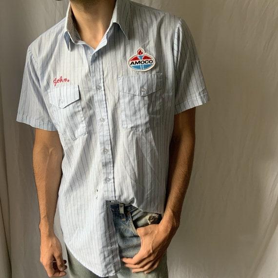 Vintage 1960s  Amoco Shirt - vintage workshirt - v
