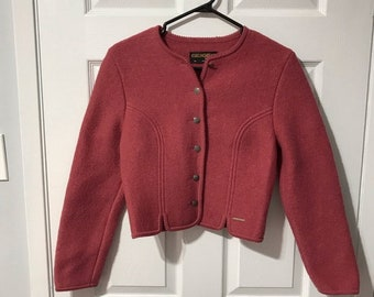 Vintage One Of A Kind FeltedKnit Jacket Sz M