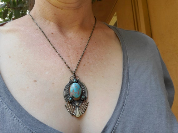 Vintage Egyptian Revival Necklace - image 7