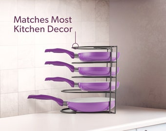 Pan Rack Organizer for Kitchen Cabinet by Mindspace
