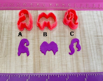 Bunch of Witch Sisters Halloween Cutters for Cookie Fondant Cutter or Polymer Clay, Jewelry Earrings Making   #538