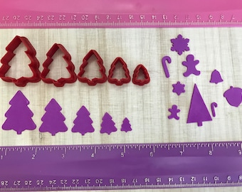 Christmas Tree for Cookie Fondant Cutter or Polymer Clay, Jewelry Earrings Making  #722