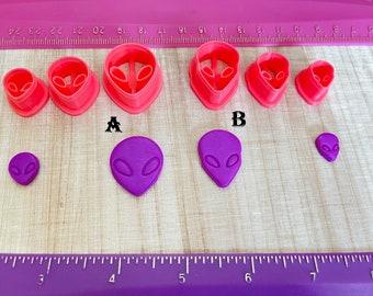 Alien Embossing Cutter Cookie or Fondant & Polymer Clay, Jewelry Earrings Making  #391