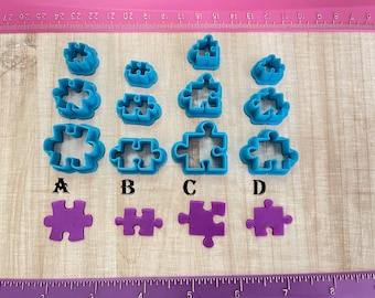 Puzzle Cutter for Cookie or Fondant Cutter & Polymer Clay, Jewelry Earrings Making   #390