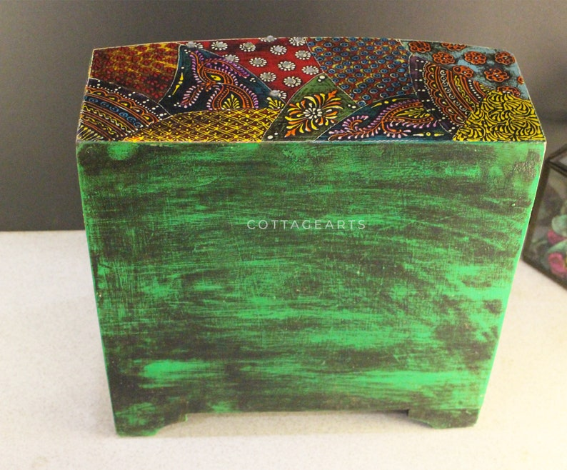 Wooden Hand Painted Drawer Ethnic Chest of Drawers Jewellery Box Wooden box Trinket Box Girl/'s Gift Mother/'s Day Gift BohoStyle