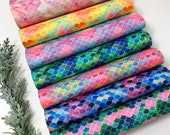 Mermaid scale SHIMMER GLITTER sheets. Glitter sheets, craft and hair bows supplies, shimmer glitter sheets R-06 photo