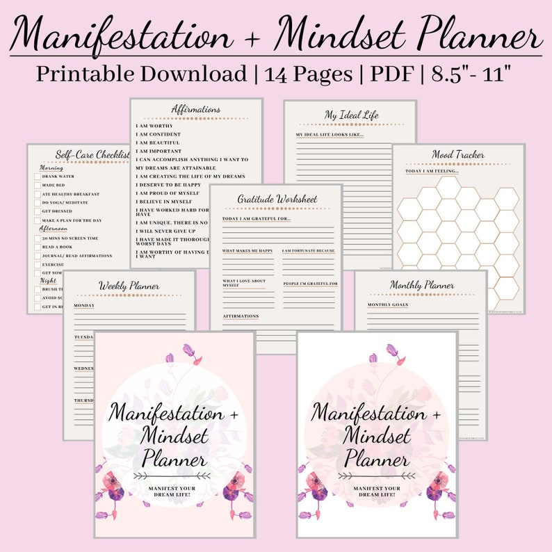 Manifestation Planner digital download Printable image 0