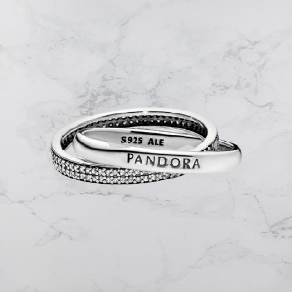 PANDORA Promise Ring Sterling Silver & Cubic Zirconia   Etsy