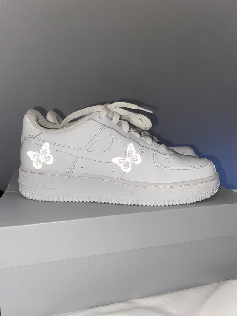 Custom Reflective Butterfly Air Force 1 KsERYPxP