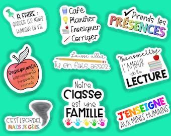 Batch of teacher stickers, teacher, Waterproof, Vinyl, Sticker, Waterproof sticker, Sticker for water bottle