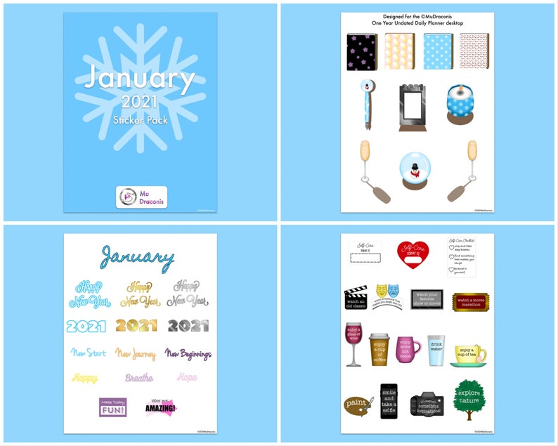 January 2021 Sticker Pack image 0