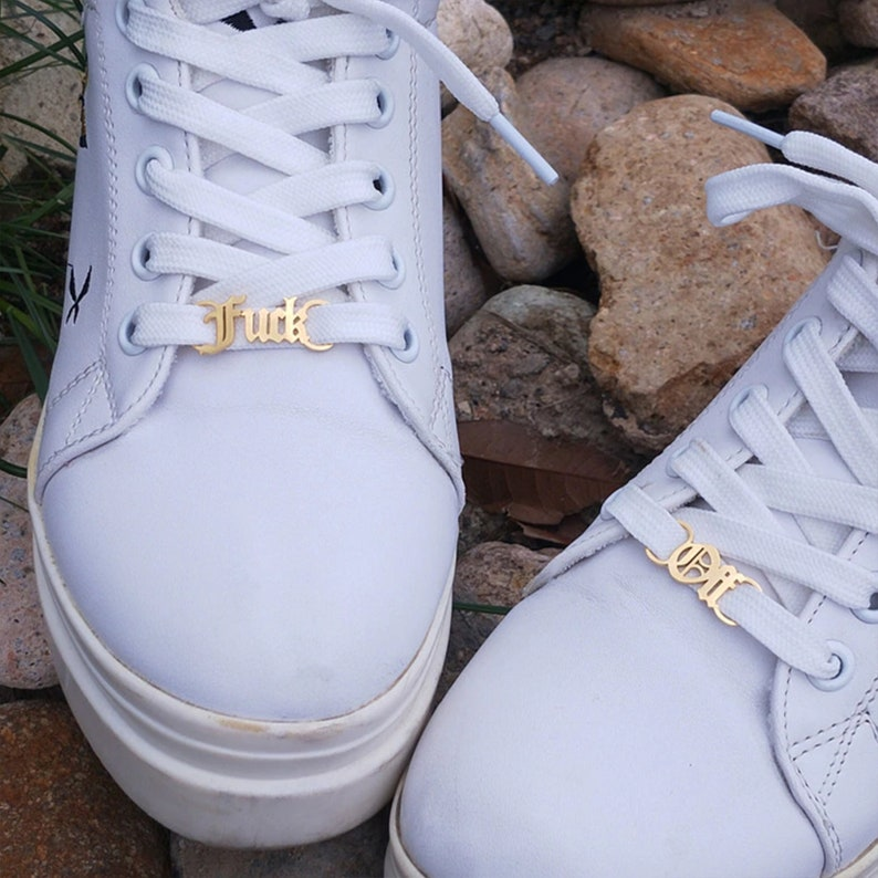 Personalized Lacelock Gift Couple Shoe Buckle Personalized Shoe Charm Customized Name Shoelace Charm Shoe Accessories