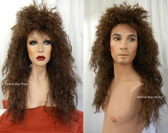 HEAVY METAL Unisex Wig. Bon Jovi, Van Halen, HAIR, Theater 80's Rocker,