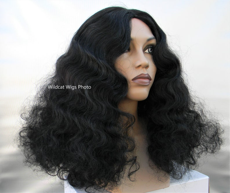 70s Headbands, Wigs, Hair Accessories Diana Ross style Quality Wig .. NICE .. Afro .. Relaxed Afro Unisex wig .. Drag $34.99 AT vintagedancer.com
