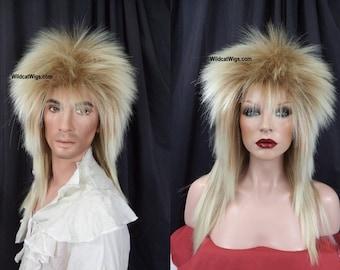 Jareth Goblin King Bowie Wig .. Unisex .. Long Rocker style Wig .. 80's .. Heavy Metal .. Rock Band
