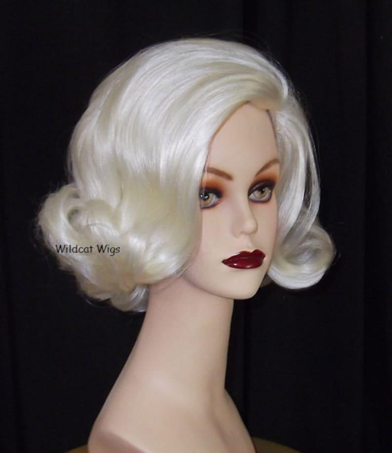 50s Hair Bandanna, Headband, Scarf, Flowers | 1950s Wigs Retro COLOR CHOICE Quality Wig .. 60s Flip! DRAG .. Best Seller! $29.99 AT vintagedancer.com