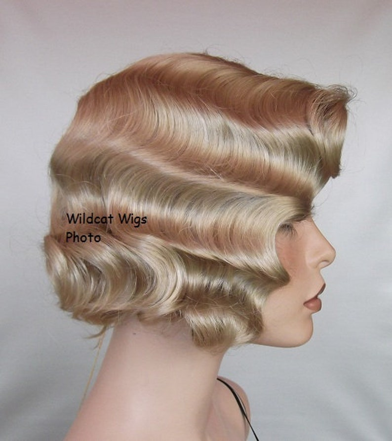 1930s Hairstyles for Long Hair Finger Wave Wig. Theatre Champagne Blonde. Quality. Flapper .. Downton Abbey $34.99 AT vintagedancer.com