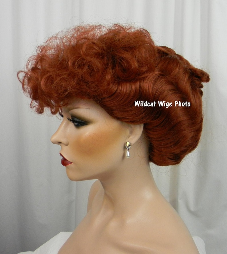 Edwardian Gloves, Handbags, Hair Combs, Wigs Lucy Wig .. I Love Lucy! Gibson style Wig NEW! LucilleBall Wig .. USA seller $28.99 AT vintagedancer.com