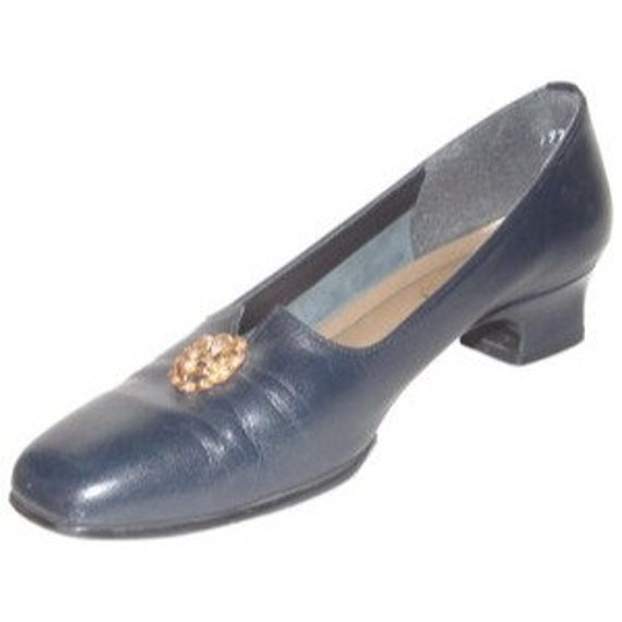 California Magdesians Vintage Navy Blue Leather Lo