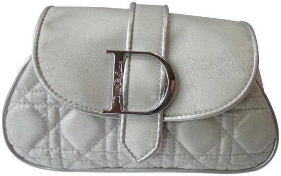 Dior Silver Fabric Metallic Parfums Makeup Cosmeti