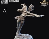 Wyrran Rivergrass - Elf Ranger The Silvercrest League 3D Printed Miniature Moonglaive 28mm 32mm Miniatures, Warhammer, D D