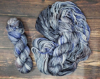 Utah Fiber Collective - Electrical Storm - Bulky Weight Yarn - Superwash Merino Wool Nylon