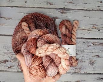 Utah Fiber Collective - Antelope Canyon + Pony Express Sock Set - Fingering Weight Yarn - Superwash Merino Nylon Salta Twisted