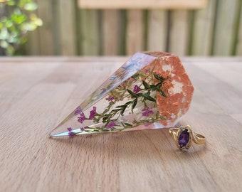 Jewelry Dish and ring holder Wedding bouquet preservation flower preservation keepsake Epoxy Resin Ring holder