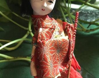 """Japanese Kabuki 6"""" Doll Vintage"""