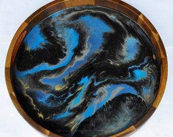 Deep Blue Sea - Resin Art Tray