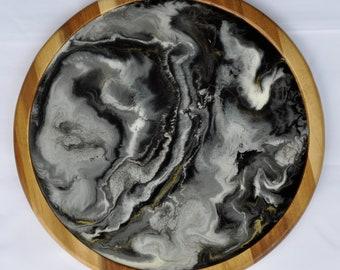 Smoke - Resin Art Lazy Susan