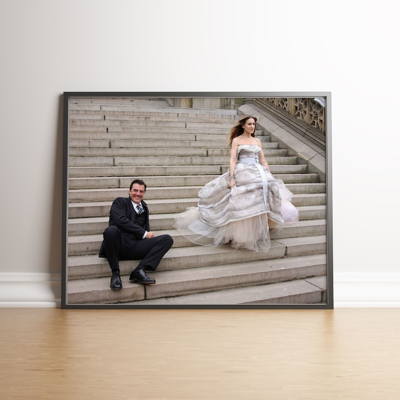 Carrie and Mr Big Photography Wall Art Poster Gift Photo Print image 0
