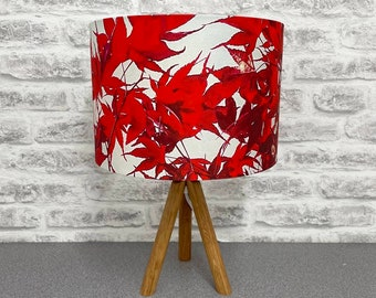 Handmade lampshade. Stunning abstract design. Colourful. Home. Funky. Lifestyle. Interiors. Creative. Interior Design. Maple Leaves.