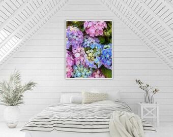 Hydrangea heaven. Abstract photo print wall art. Gift. Interior Design. Lifestyle. Home.