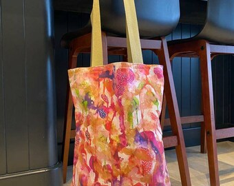 Tote bag. School, work,  shopping, gift or beach. Funky Pink. Fashion. Accessories.