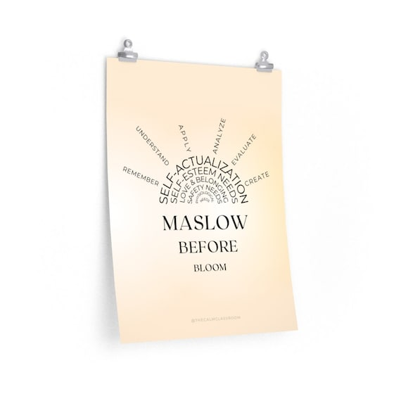 Maslow Before Bloom Poster