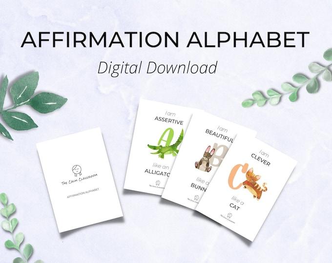 Affirmation Alphabet (DIGITAL DOWNLOAD)