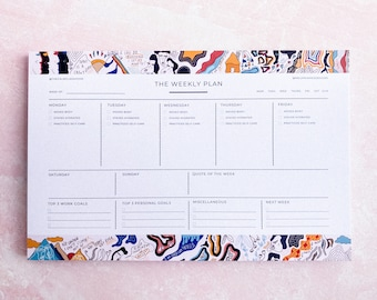 IMPERFECT: The Weekly Plan (8.5 in. x 5.5 in. Planning Notepad w/ 50 Sheets - Limited Collaboration w/ MeganJamesDesigns)