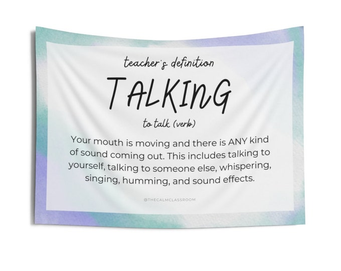 Talking: Teacher's Definition Tiny Tapestry