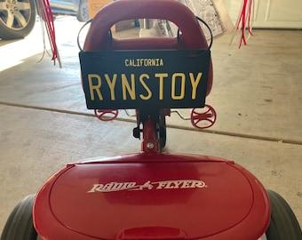 Personalized replica license plate TN-Apply-ur-Name bike wagon power wheels