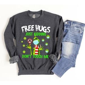 M/_Eshop Womens How The G-rinch Stole Christmas Hoodie Face Green Raglan Sweatshirt