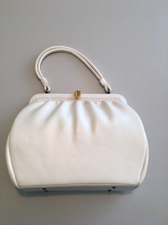 Vintage white vinyl handbag