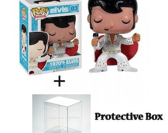 FREE Protective PACKAGING! 1970's Elvis Presley #03 Funko Pop New//Box